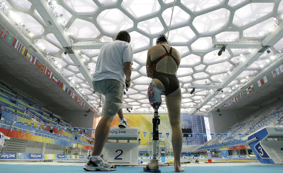 тренировки на паралимпиаде 2008 в Пекине, фото