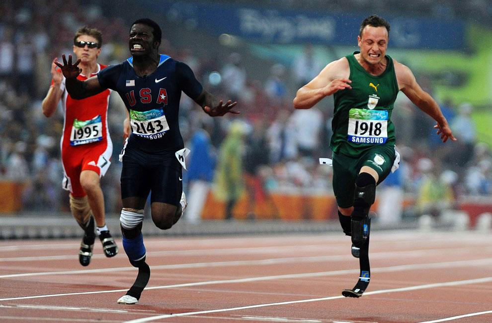 забег на 100 метров на паралимпиаде 2008 в Пекине, фото