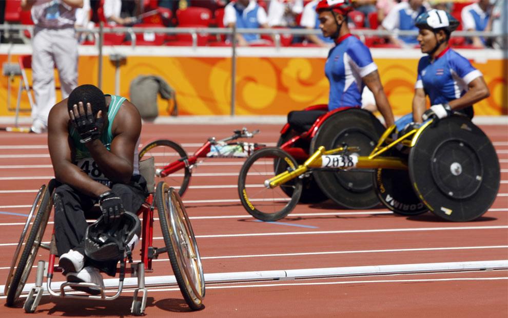 участника не допустили к заезду на паралимпиаде 2008 в Пекине, фото