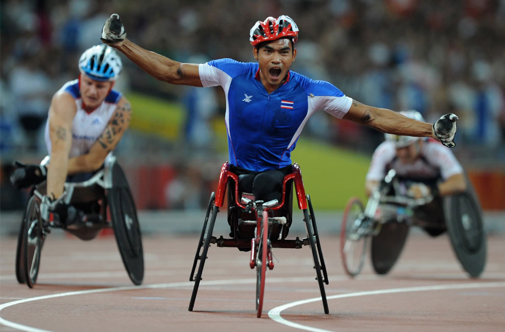 бег на пять тысяч метров на паралимпиаде 2008 в Пекине, фото