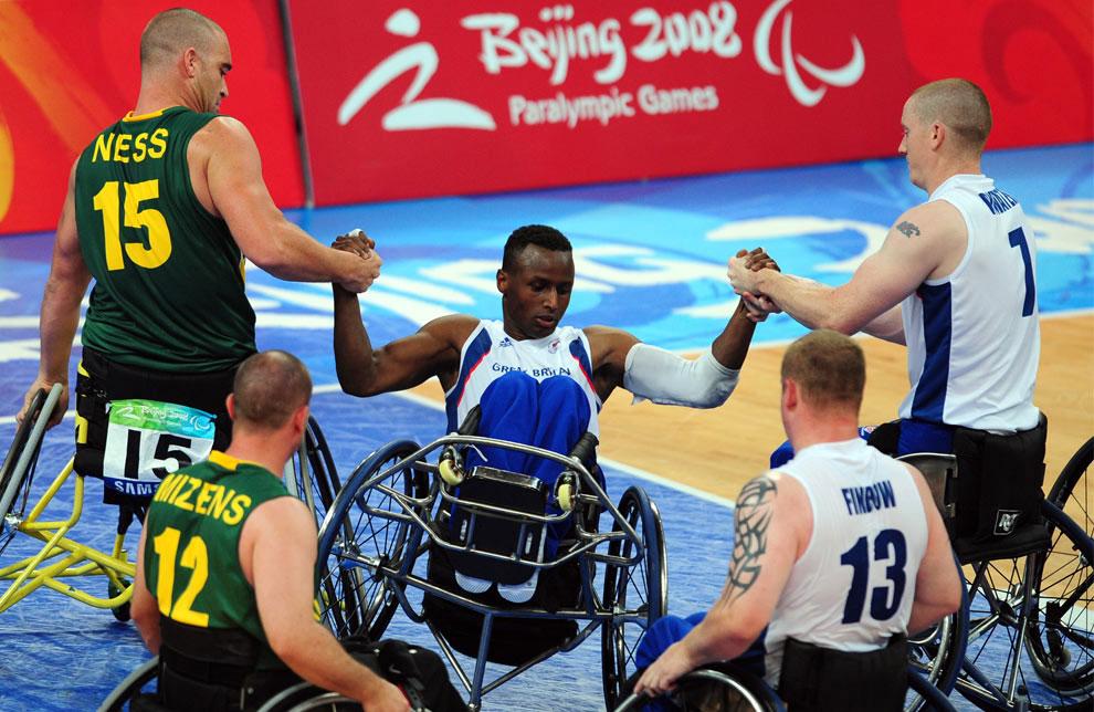 баскетболисты в Китае на паралимпиаде, фото