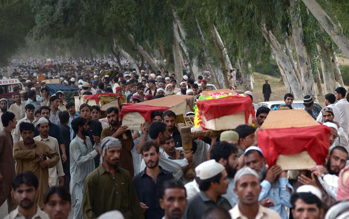 похороны погибших от взрыва