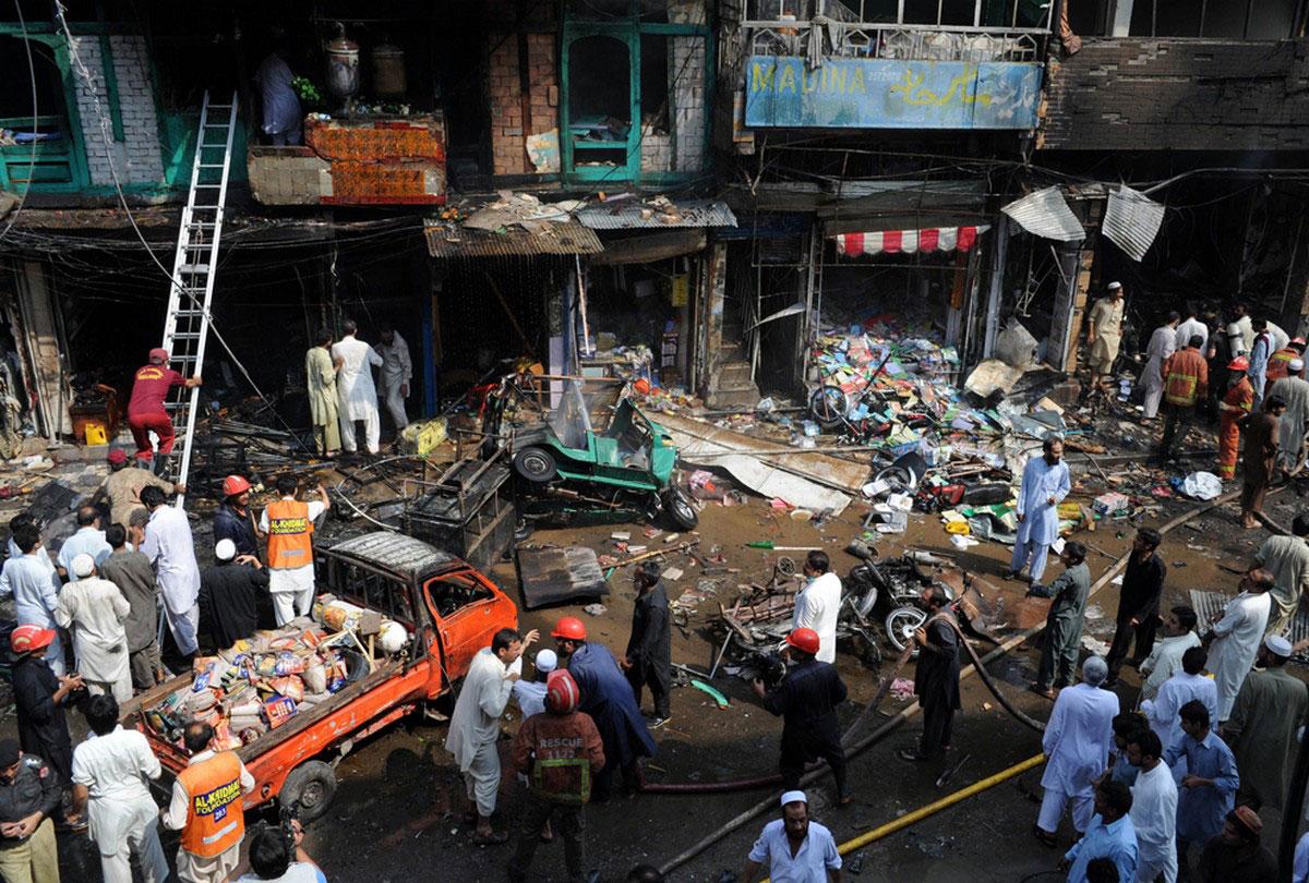площадь Пакистана после терракта