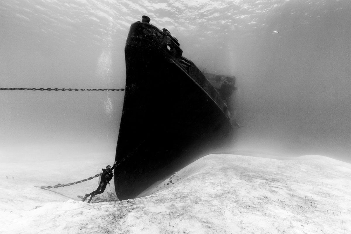 корабль затонул