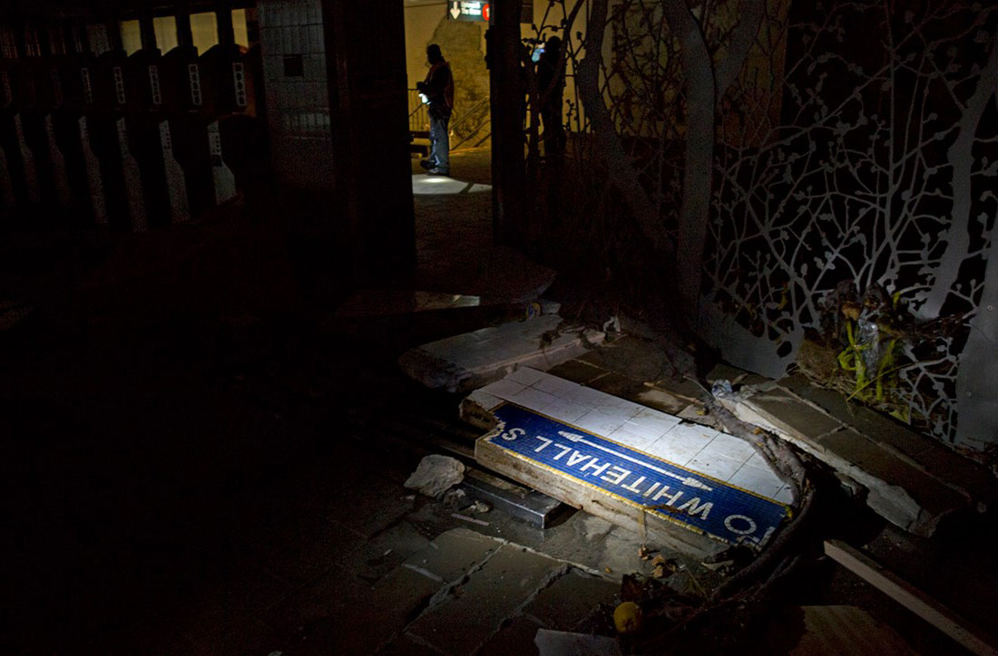Ураган Сэнди разрушил метро нью-йорка, фото