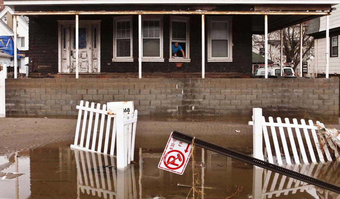 затопленный дом в Нью-Йорке, фото