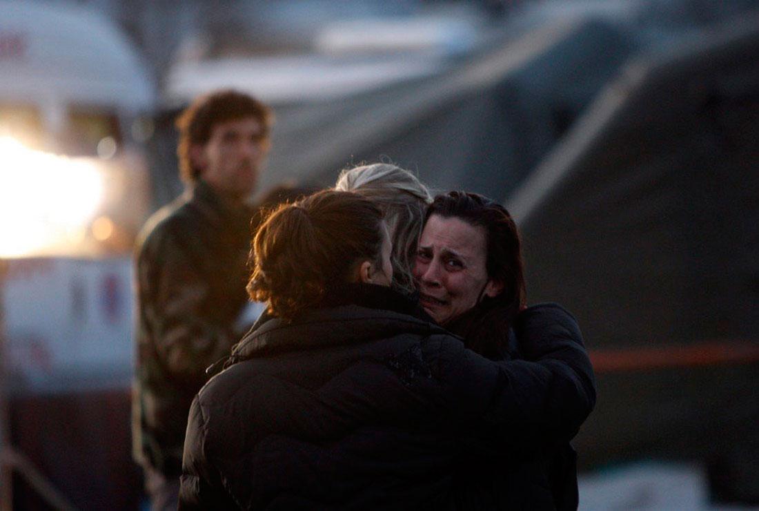 Итальянцы, пострадавшие от сильнейшего землетрясения, фото
