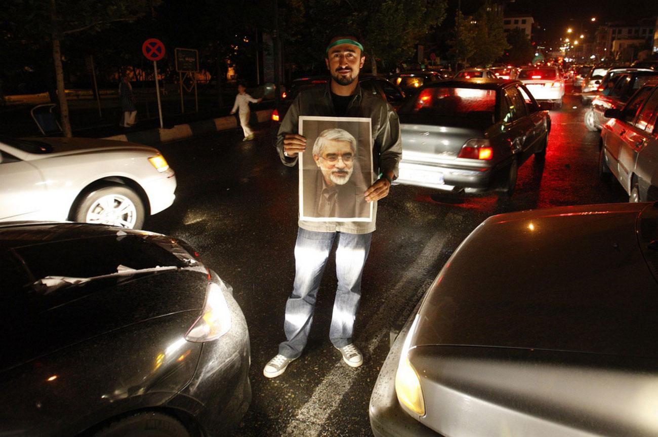 плакат с изображением кандидата в президенты