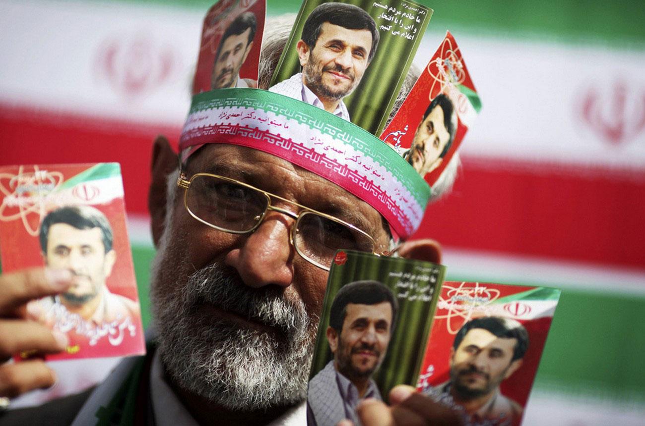 фотографии иранского президента Махмуда Ахмадинежада