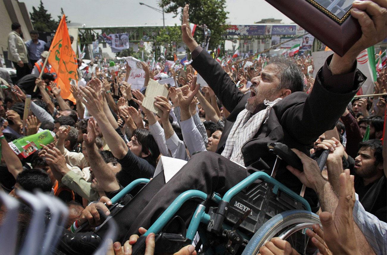 во время последнего предвыборного митинга в Иране