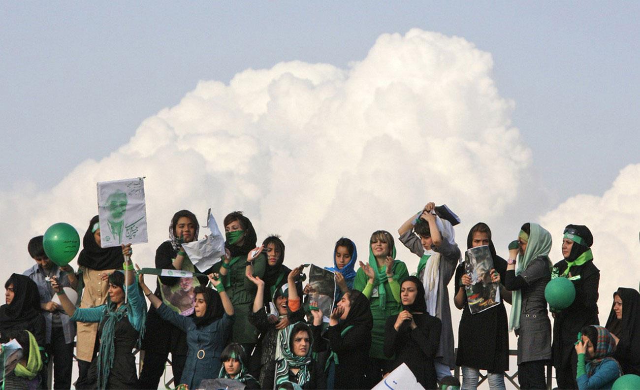 на предвыборном собрании Тегерана
