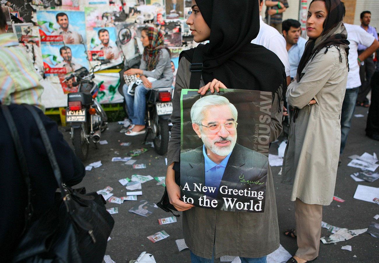 предвыборный иранский плакат