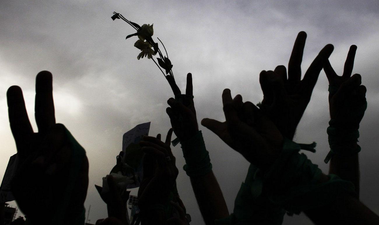 на предвыборном митинге перед выборами иранского президента