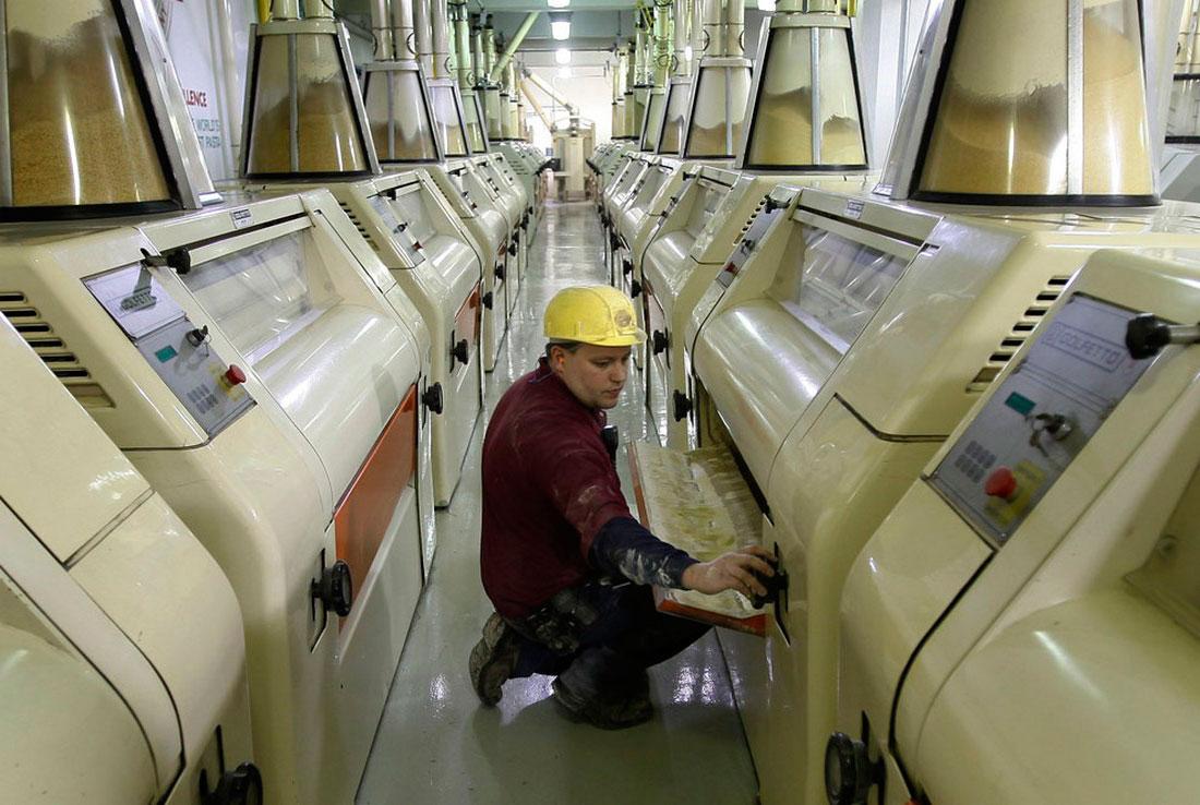 на фабрике по изготовлению итальянской пасты, фото
