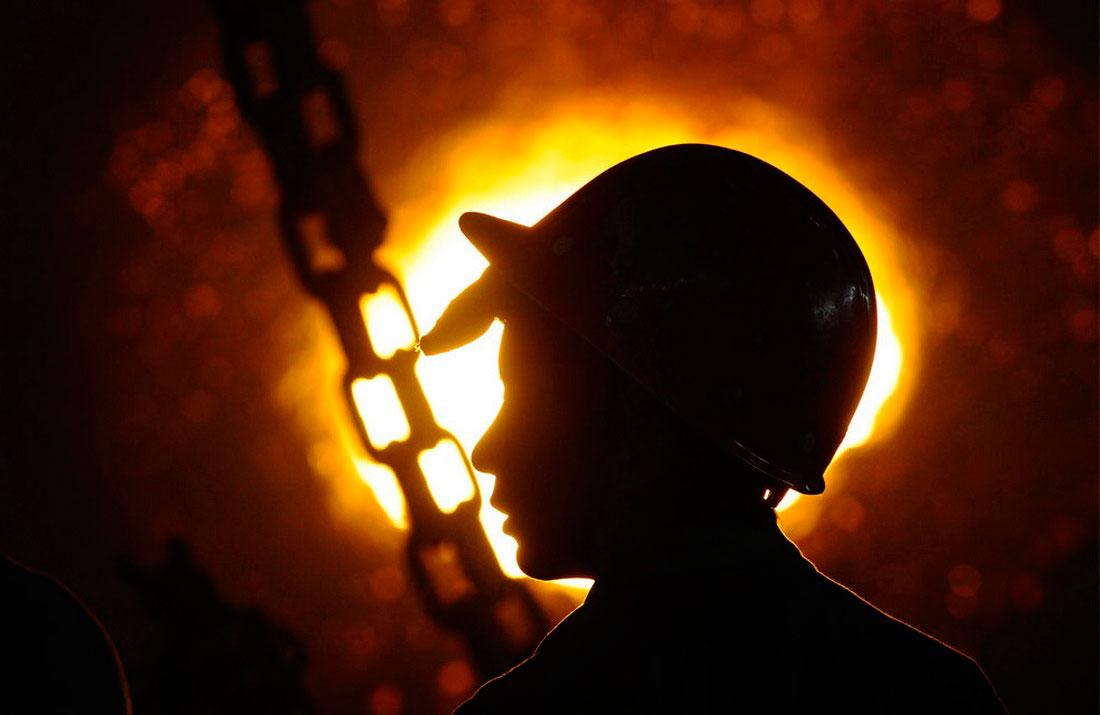 на металлургическом заводе в Чанчжи, фото Китай