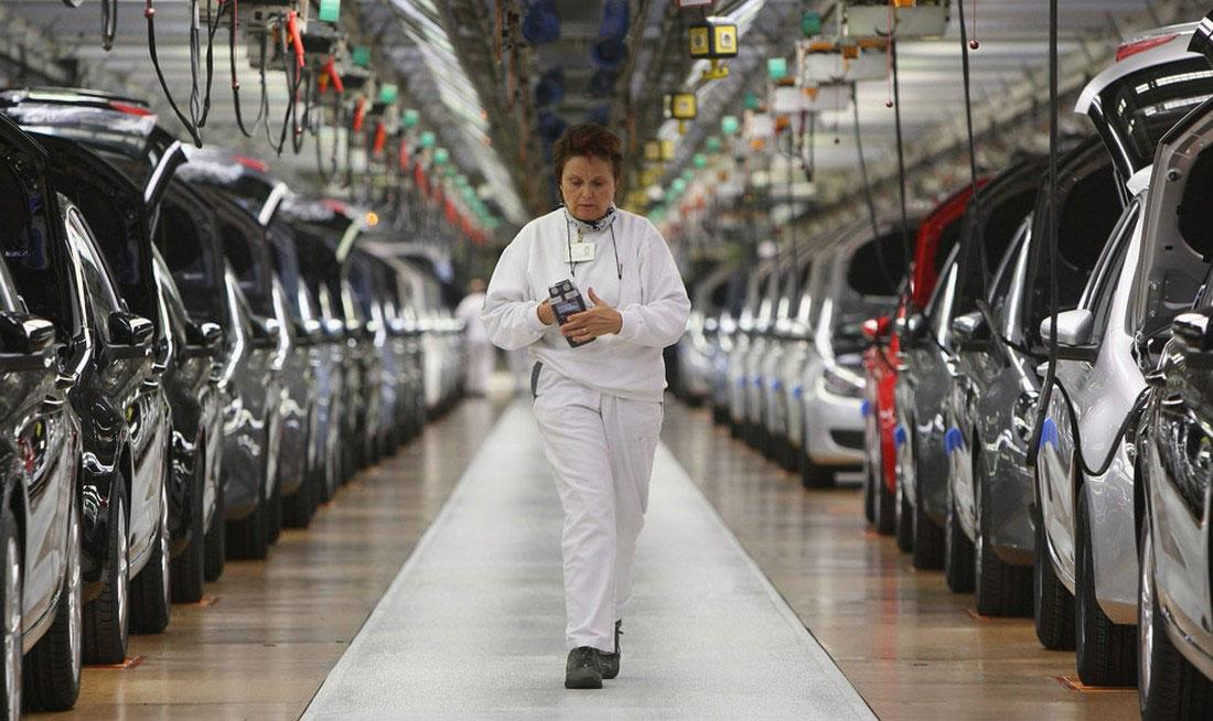 на заводе Volkswagen, фото