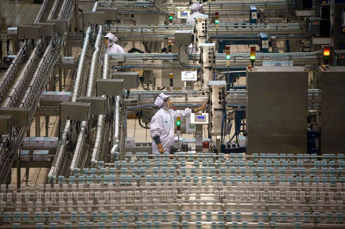 Молочный завод в Китае, фото