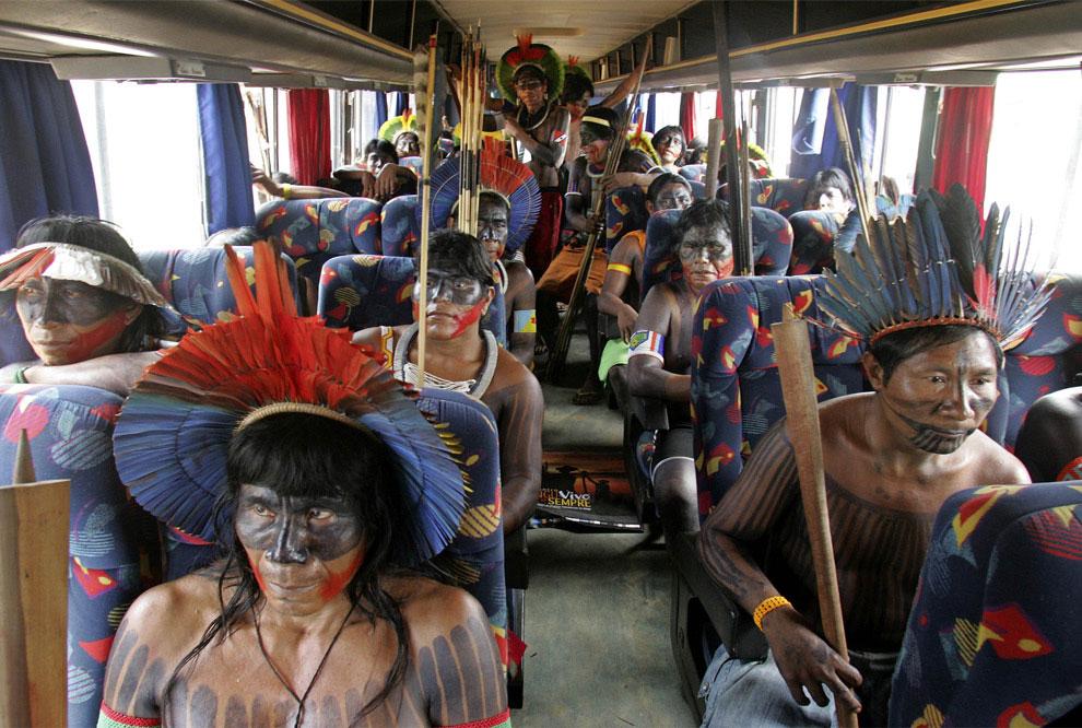 индейцы амазонки на протест