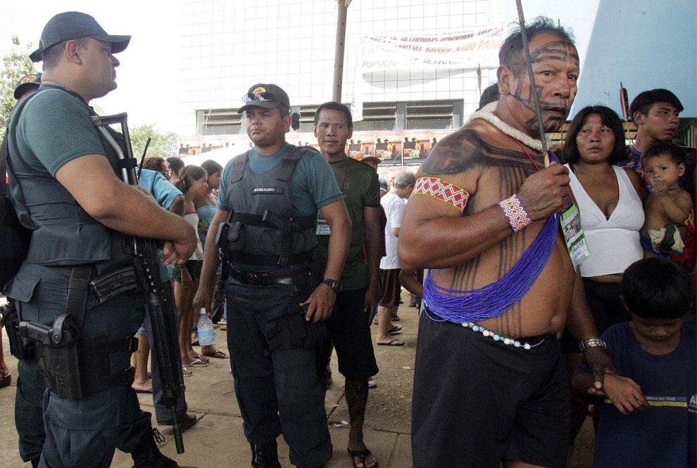 на протесте в бразилии
