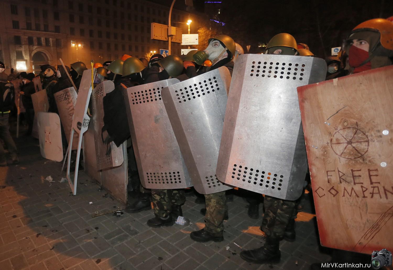 участники митинга в масках