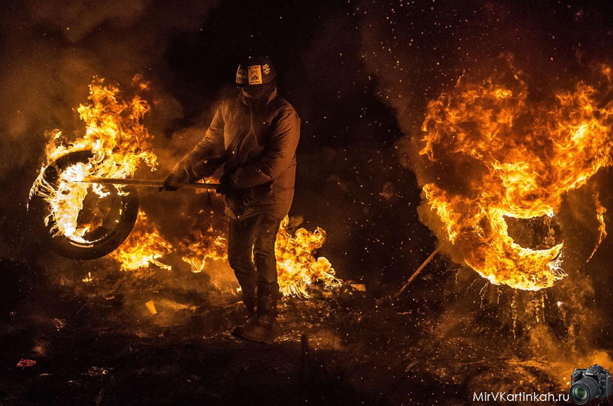 горящие покрышки