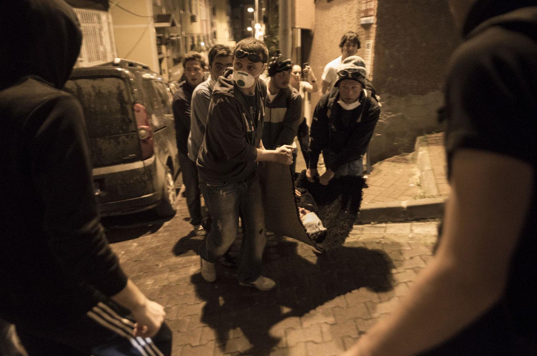 раненый на митинге в Турции