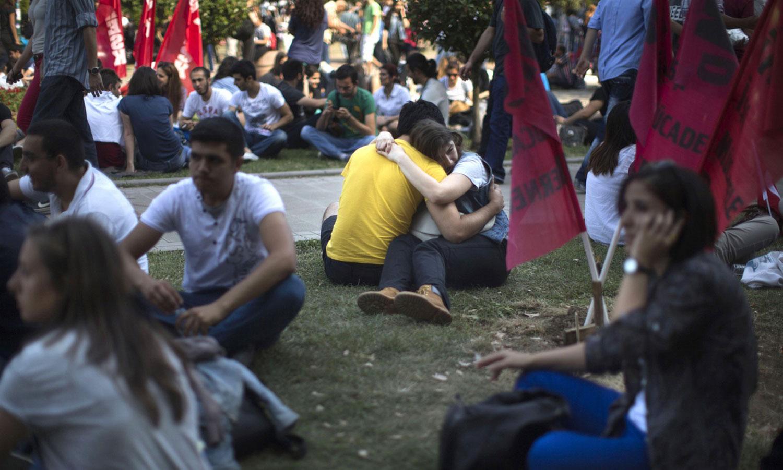 люди в Gezi парке