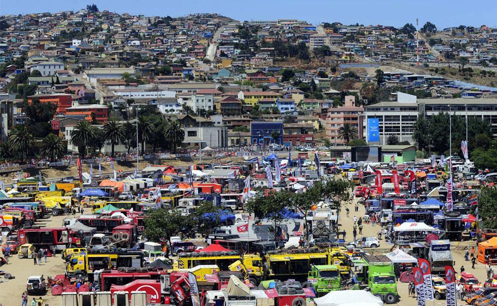 во время отдыха в Вальпараисо, фото с ралли Дакар