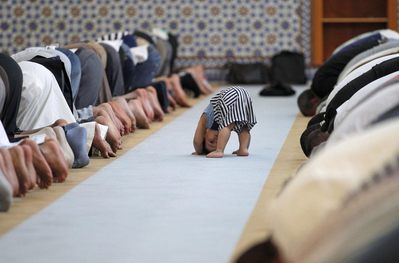 ребенок в Большой мечети