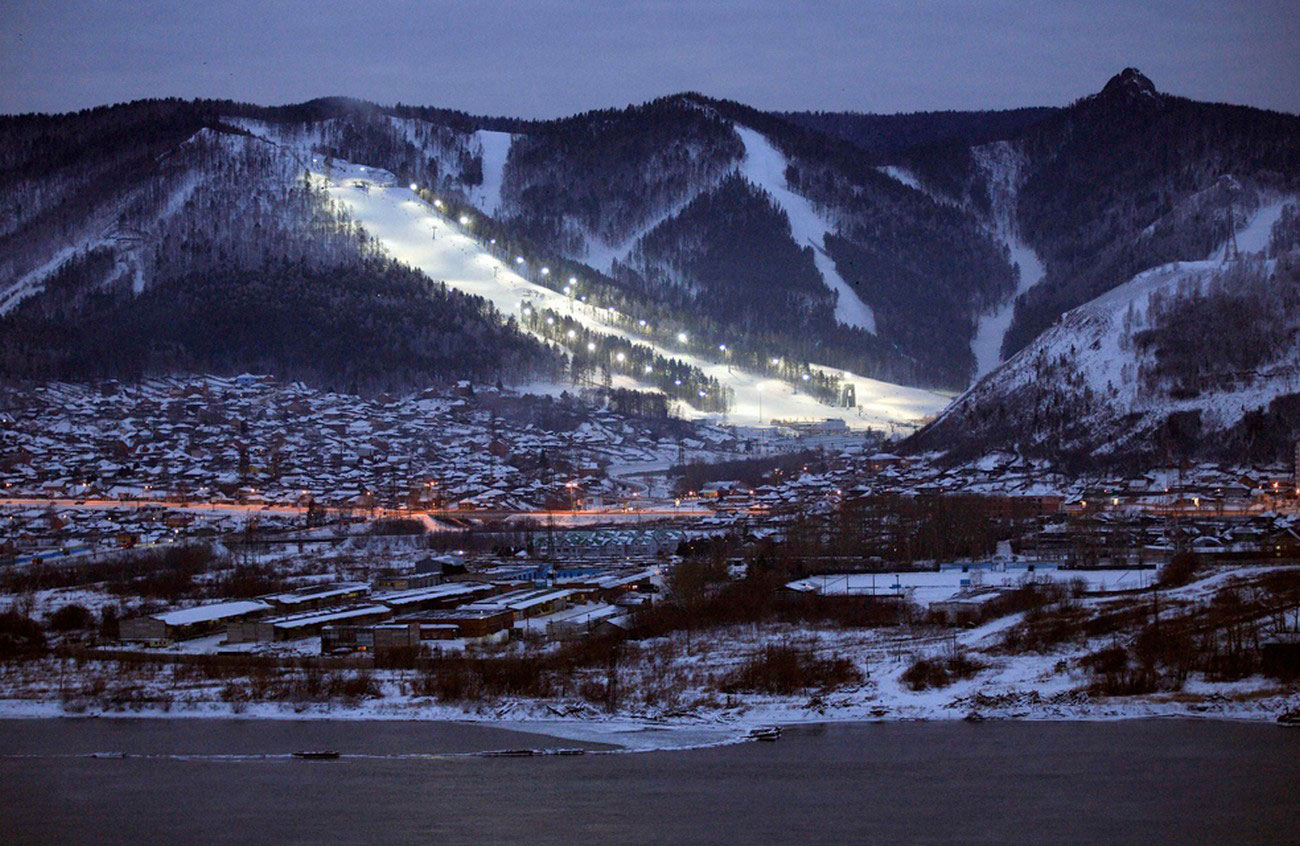 горнолыжный курорт на Енисее