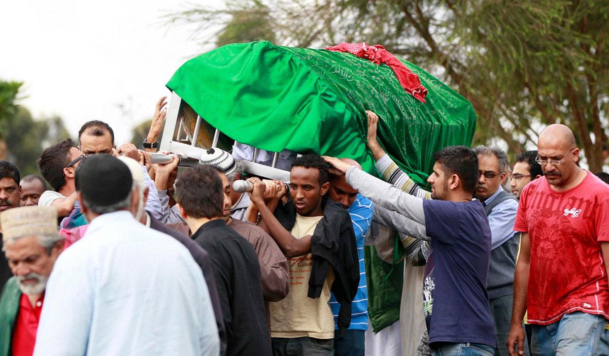гроб с телом убитого