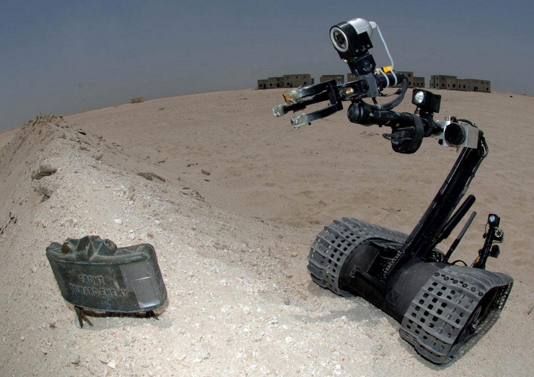 робот на учениях, фото