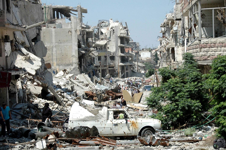 Хомс после бомбежки