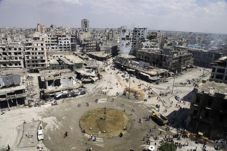центральная площадь Хомса