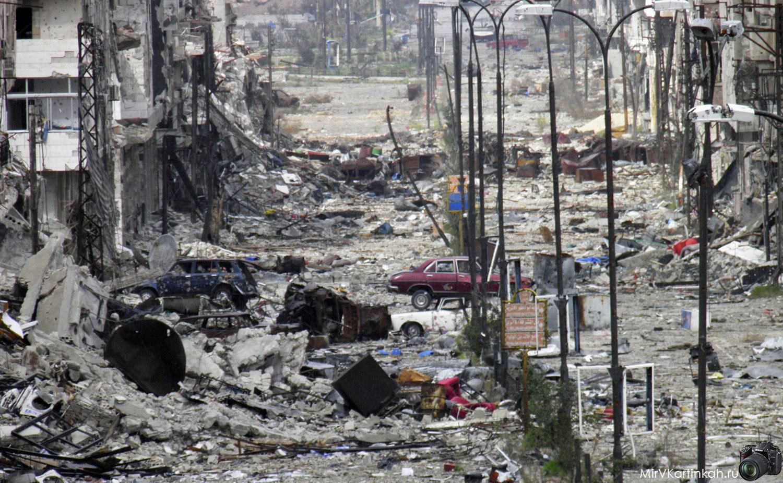 Один из жилых кварталов Хомса