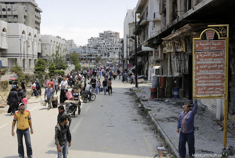 сирийцы с вещами