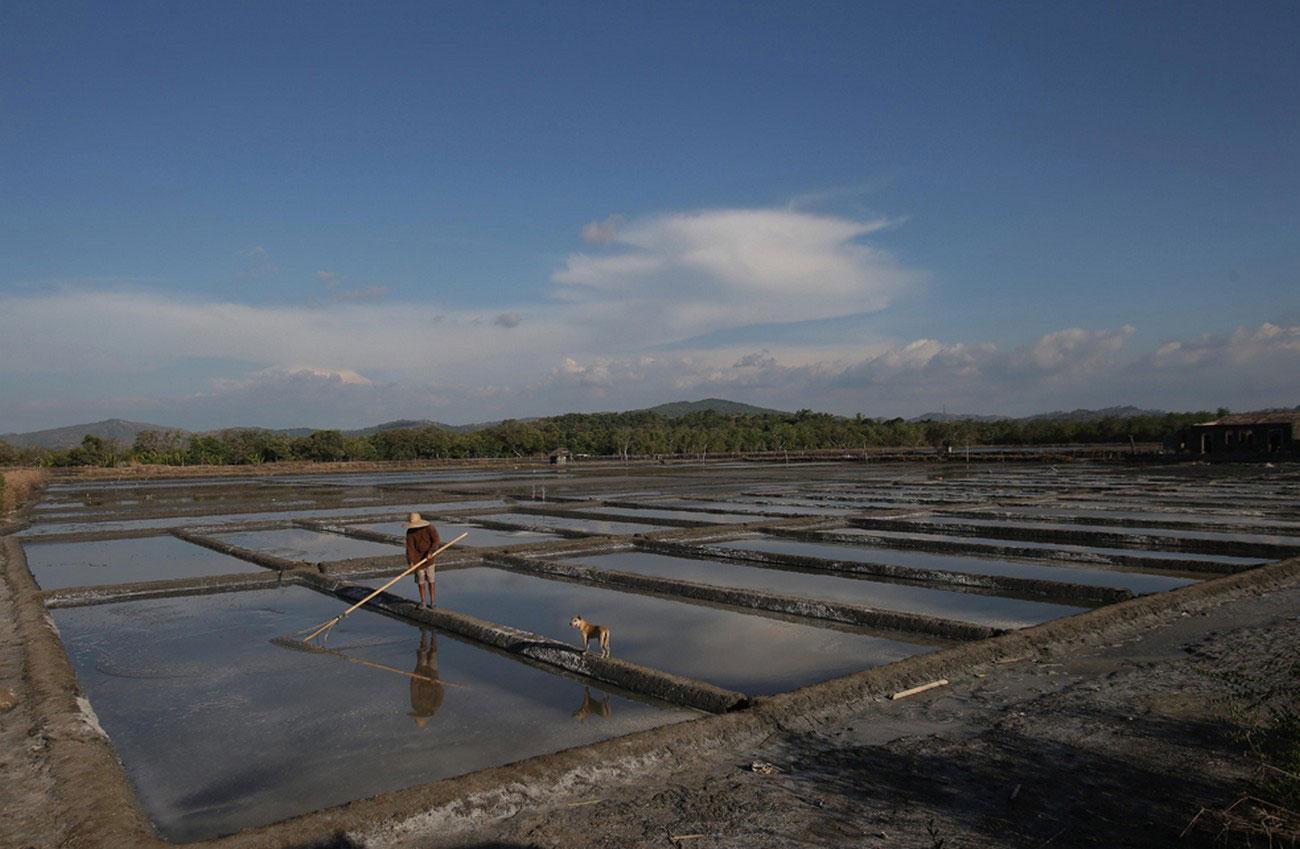 Соляные пруды в провинции