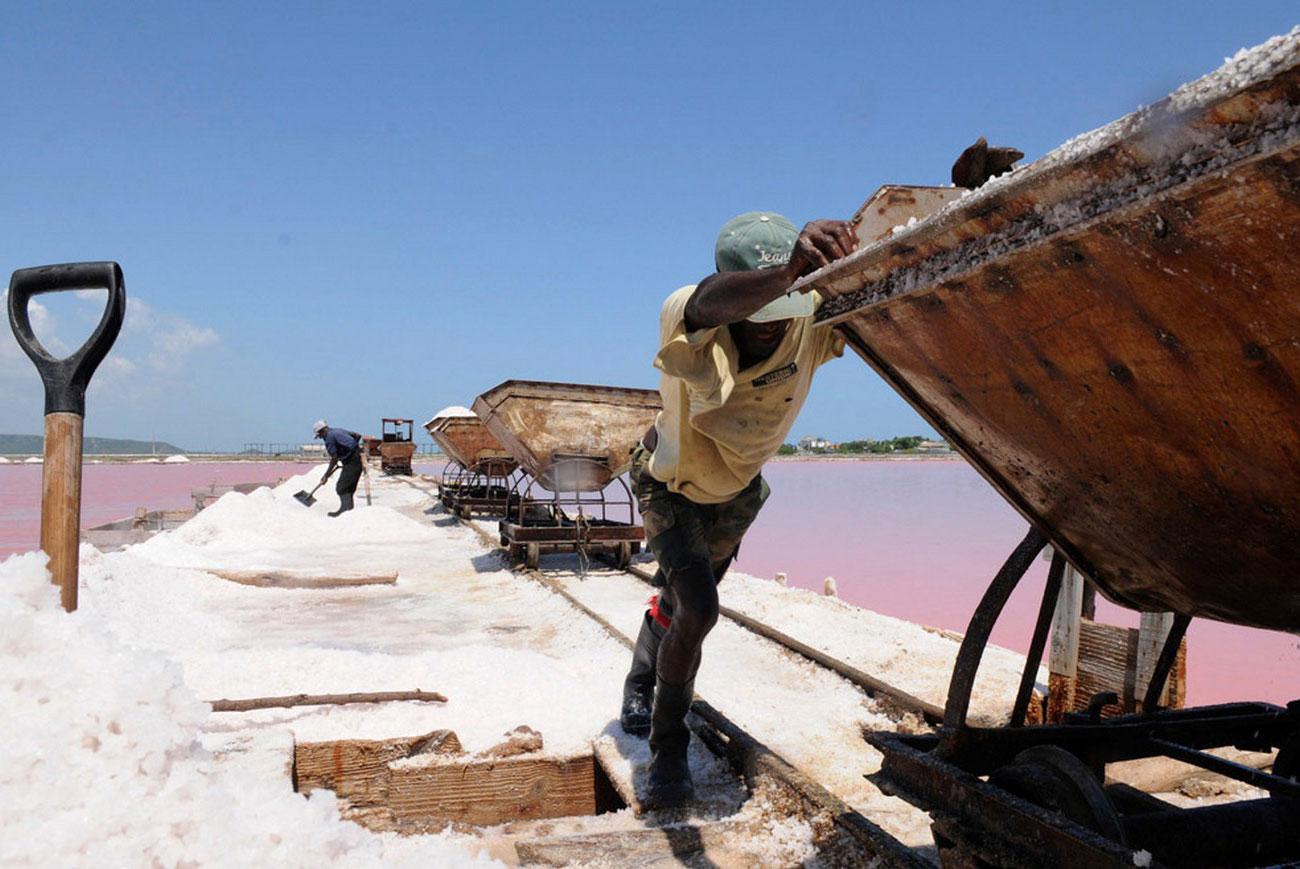 работа на соляной шахте