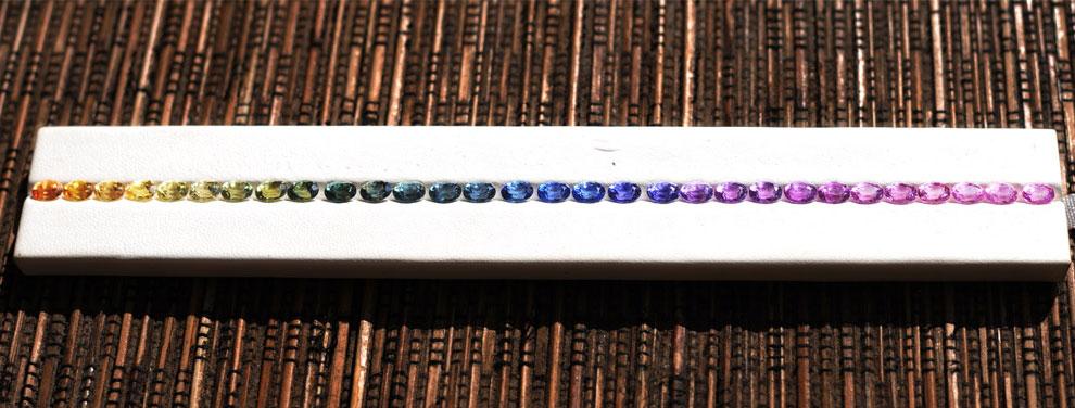 разные цвета сапфиров, фото