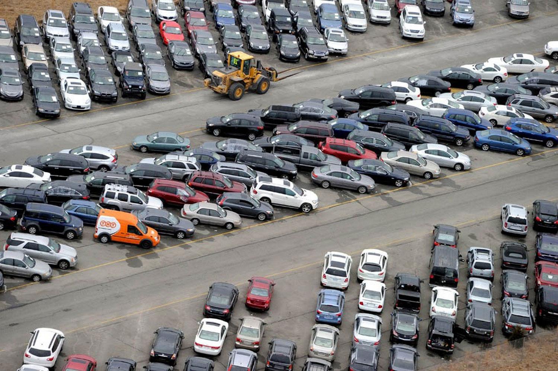 затопленные автомобили Нью-Йорка, фото
