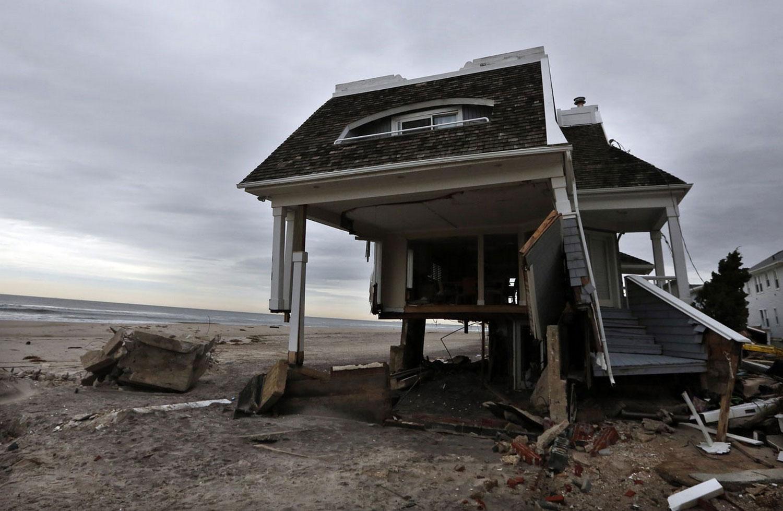Разрушенный Sandy дом, фото