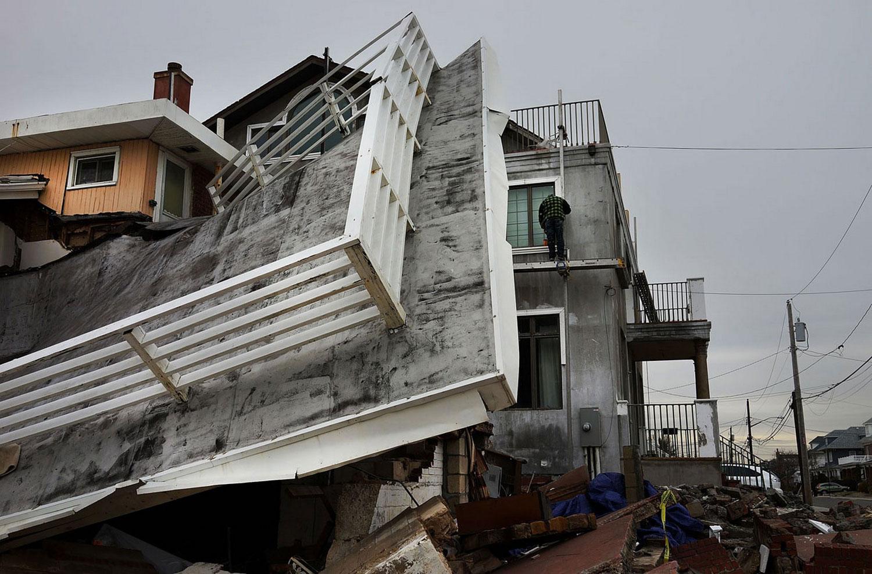 Разрушенные ураганом Сэнди дома