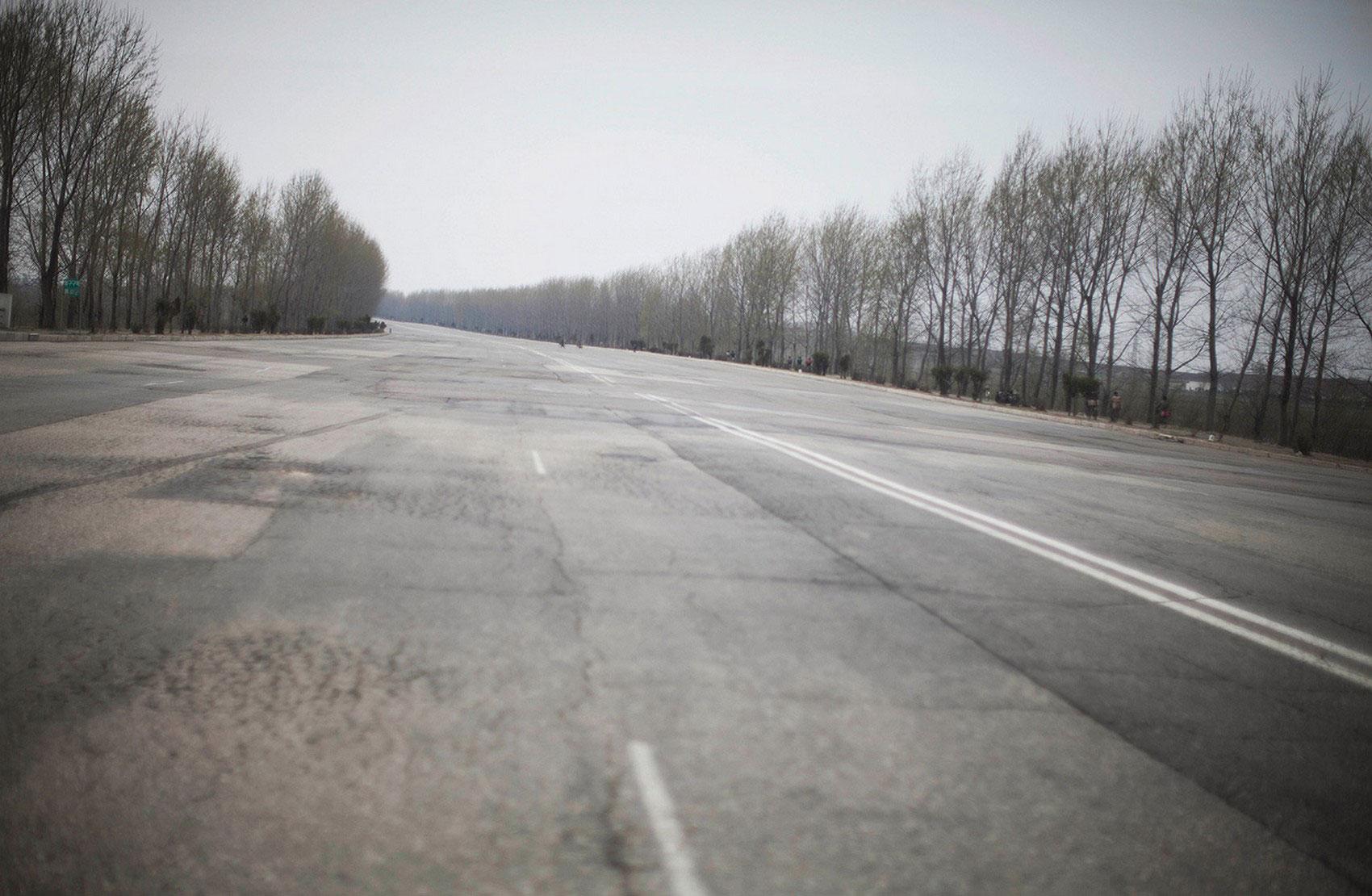 шоссе недалеко от Пхеньяна