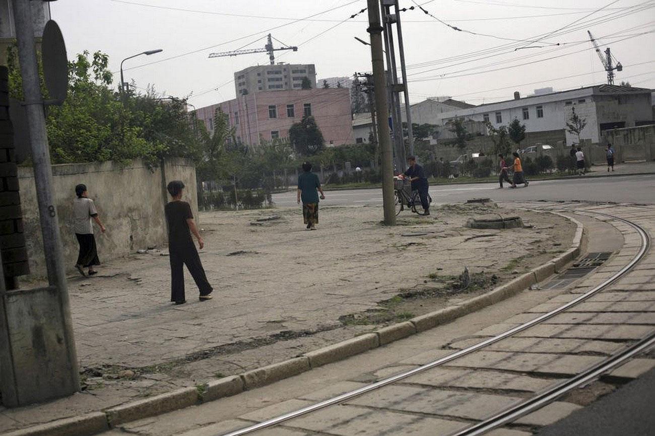 Трамвайные пути в Пхеньяне