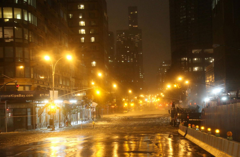 шторм Sandy в Манхэттене, фото