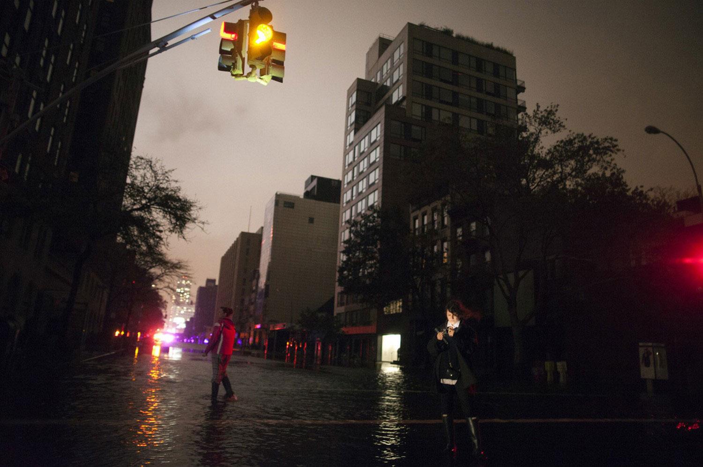 улице Нью-Йорка без электричества, фото
