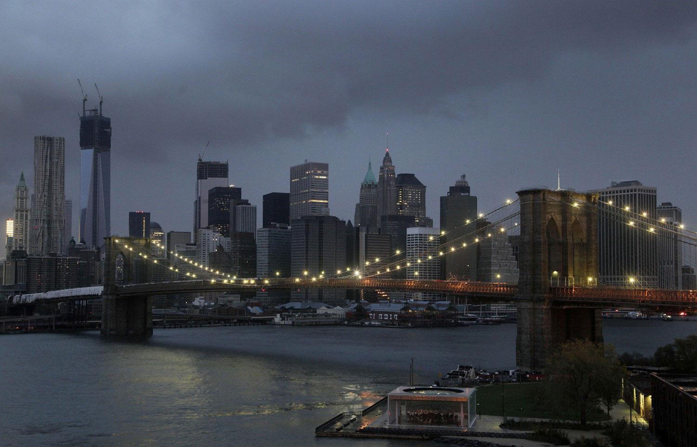 на Бруклинском мосту после урагана Сэнди, фото