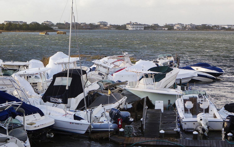 Sandy сломал лодки, фото
