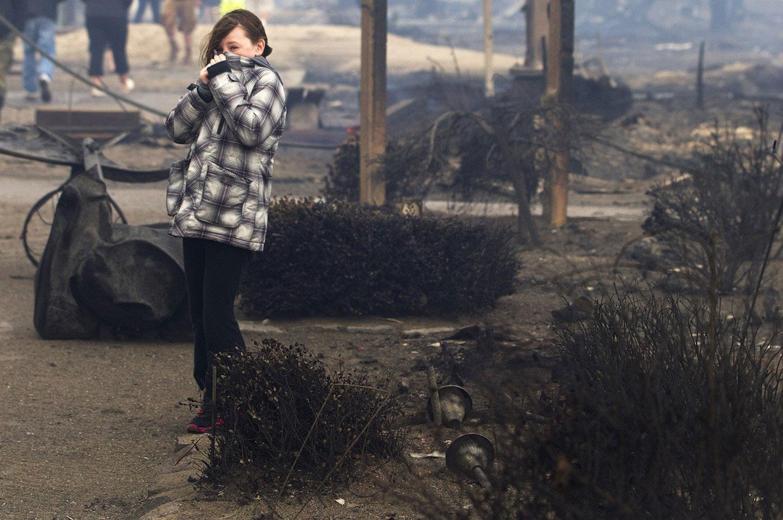 на пепелище в США, фото Sandy
