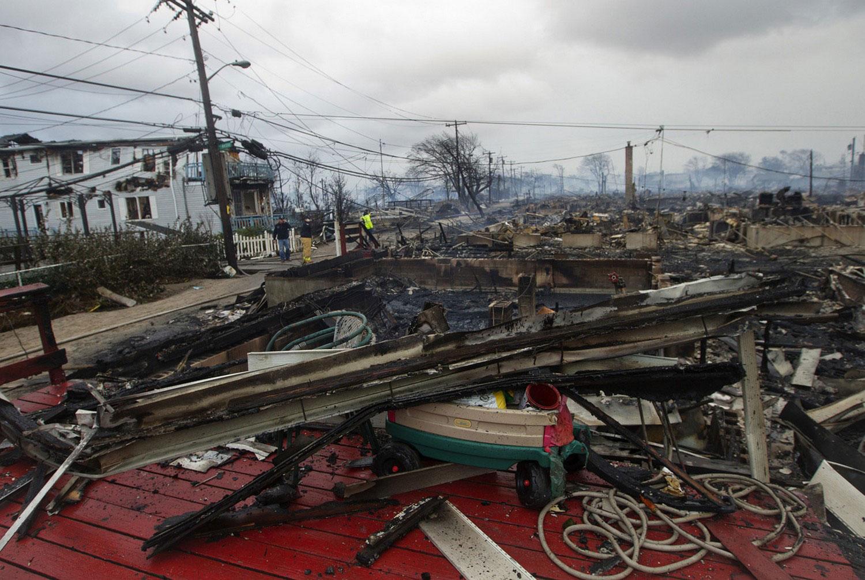 тайфун Сэнди разрушил дома в Америке, фото